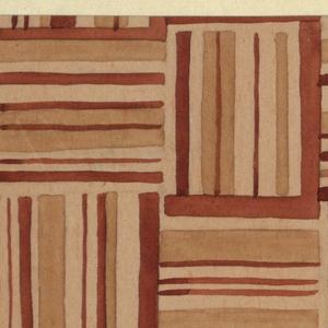 Drawing, Textile Design: Terzett (Trio)