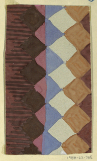 Drawing, Textile Design: Säge (Saw)