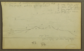 Drawing, Cows in Landscape; Verso: Bamboo, 1857