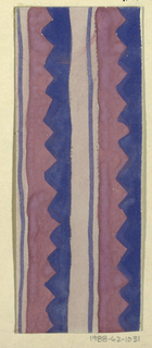 Drawing, Textile Design: Vesuv (Vesuvius)