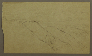 Drawing, Landscape, May–August 1865