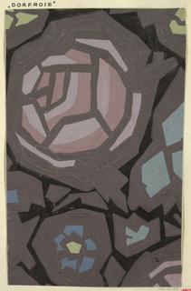 Drawing, Textile Design: Dorfrose (Village Rose)