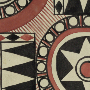 Drawing, Textile Design: Fixstern (Fixed Star)