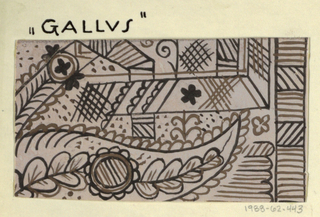 Drawing, Textile Design: Gallus