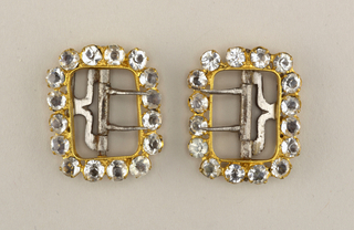 Pair Of Shoe Buckles (USA), ca. 1840