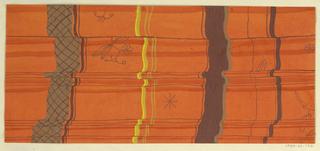 Drawing, Textile Design: Falte (Pleats)