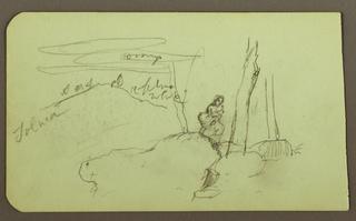 Drawing, Mountain Landscape, Taluca, Figure; Verso: Popocatapetl, 1883