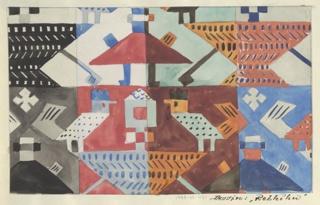 Drawing, Textile Design: Rebhuhn (Partridge)