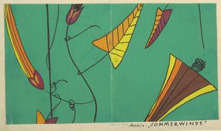 Drawing, Textile Design: Sommerwinde (Summer Wind)