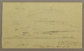 Drawing, Seascape, April 29, 1865