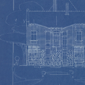 Blueprint villa of m hemsy st cloud face posterieure 1913 a blueprint depicting the back side of the villa of monsieur hemsy malvernweather Images