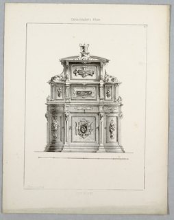 Print, Monthly Cabinet Makers Album: Side Board, 1859