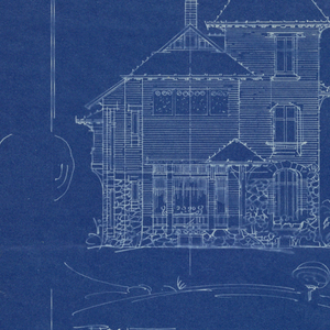 Blueprint villa of m hemsy st cloud facade laterale 1913 a blueprint depicting the side view of the villa of monsieur demsy malvernweather Images