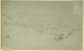 Drawing, Mountain Landscape, Jamaica, 1865