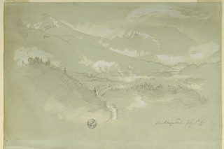 Drawing, Landscapes, neighborhood of Berchtesgaden, 1868