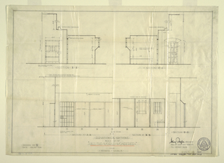 Drawing, Elevations for Scenic Design: All the World Wondered, December 30, 1929