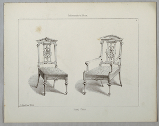 """Print, Monthly Cabinet Makers Album: """"Dining Chairs"""", 1859"""