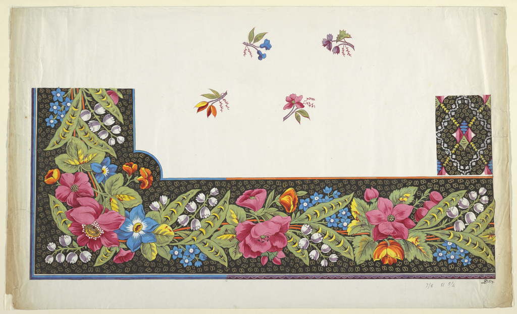Drawing, Printed Textile Design