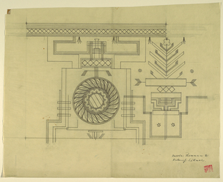 Drawing, Textile Design: Romana