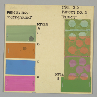 Watercolor washes for Punch Trial #2D stapled to board.