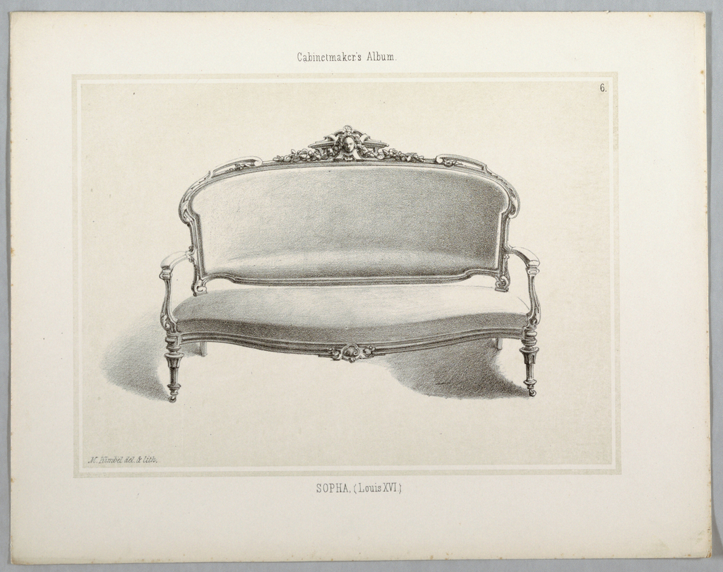 Print, Monthly Cabinet Makers Album: Sopha, 1859
