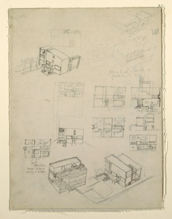 Drawing, First Studies for the Villa Stein-de Monzie, Garches, France