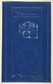 Blueprint, Plan of Ground Floor of Villa of M. Hemsy, St. Cloud