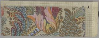 Drawing, Mise-en-carte for Textile, No. 8359