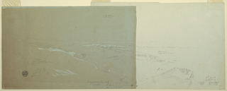 Horizontal view of the city in the right middleground. Continues on 1917-4-158-b.