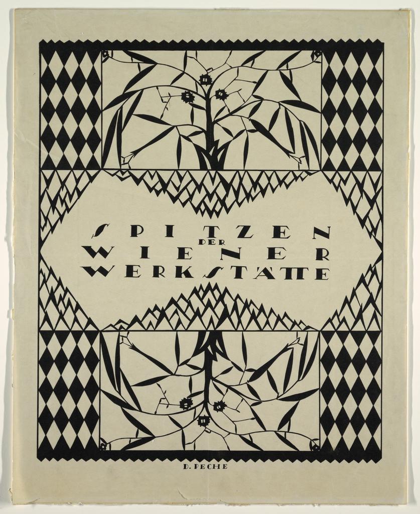 Poster, Spitzen der Wiener Werkstätte (Wiener Werkstätte Lacework)