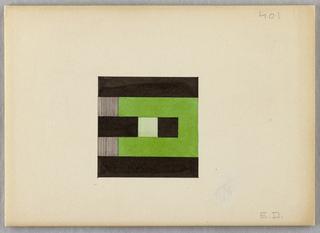 Drawing, Design for a Monogram: E.D.