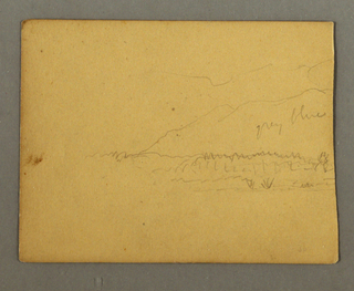 Drawing, Mountains, possibly 1856