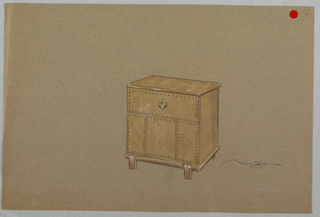 Drawing, Rectangular brown cabinet