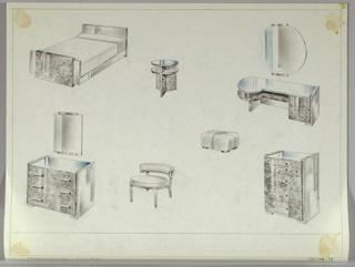 Drawing, Bedroom, Suite