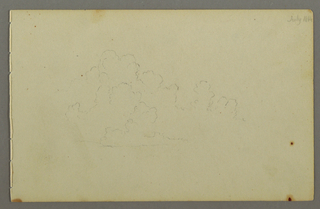 Verso: Monk and two seated men from the back, head of a man