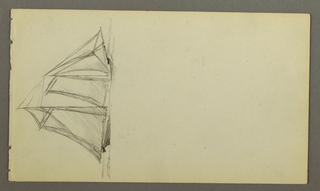 Drawing, Sailship, possibly 1860