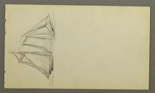 Drawing, Sailship, possibly 1860
