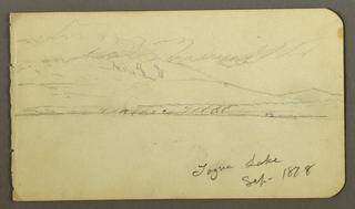Drawing, Cloud-capped Mt. Katahdin, 1878