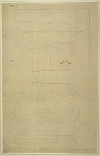 Drawing, Capital and Base of Pilaster after Masreliez, 1926