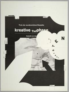 Poster, Trotz der wunderschönen Kassette: kreative Tiefphase