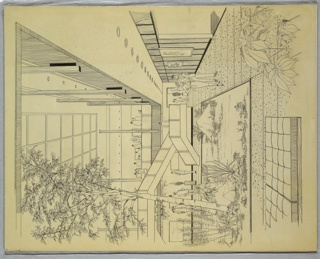 Drawing, Atrium Space Design, ca. 1930s