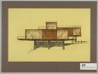 Drawing, Prefabricated House Exterior, 1971