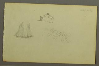 Verso: Rain over hills (August 1845)