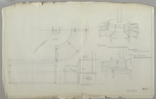 Drawing, Bench, early 20th century