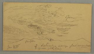 Verso: Cloud over hills