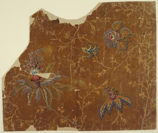 Drawing, Design for a Brocade, Fragment
