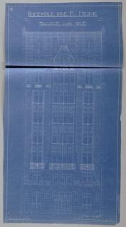 Blueprint, Apartment House, Rue Heine, Facade sur Rue