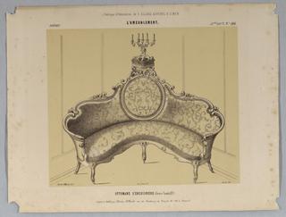 Drawing, Ottomane D'encoignere (Genre Louis XV), lithograph, 1860