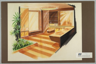 Drawing, Fiberglass House Bathroom Interior, 1971