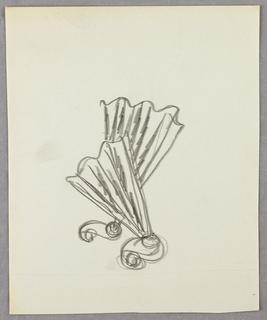 Drawing, Two interlocking fans